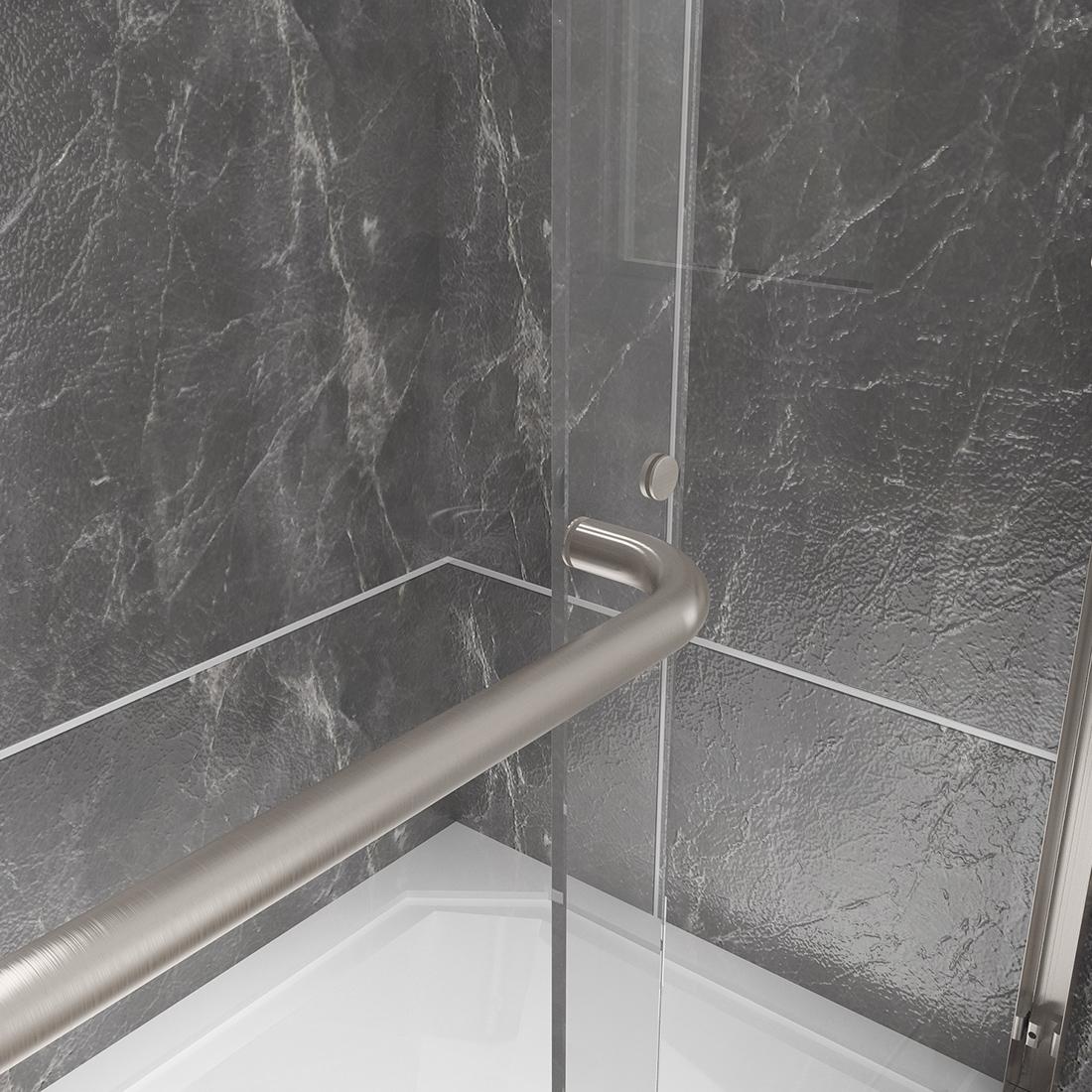 New Semi Frameless Sliding Bathtub Shower Door 60 Quot Glass 5
