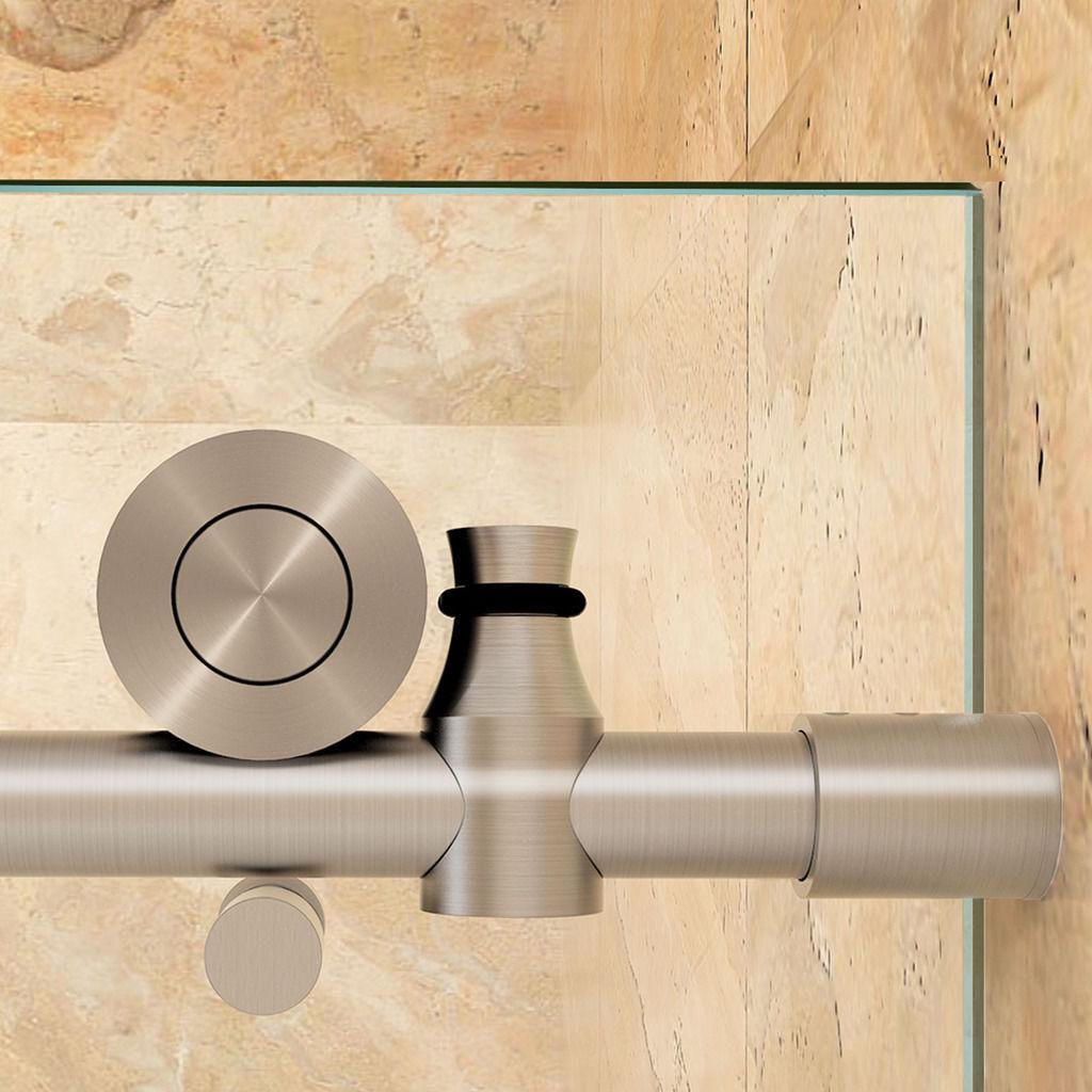 Sunny Shower 62 Frameless Sliding Glass Shower Door Track Barn W Hardware Kit