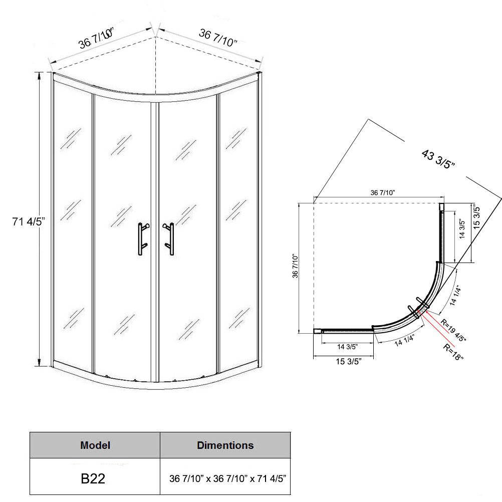 sunny shower neo round corner sliding shower enclosure