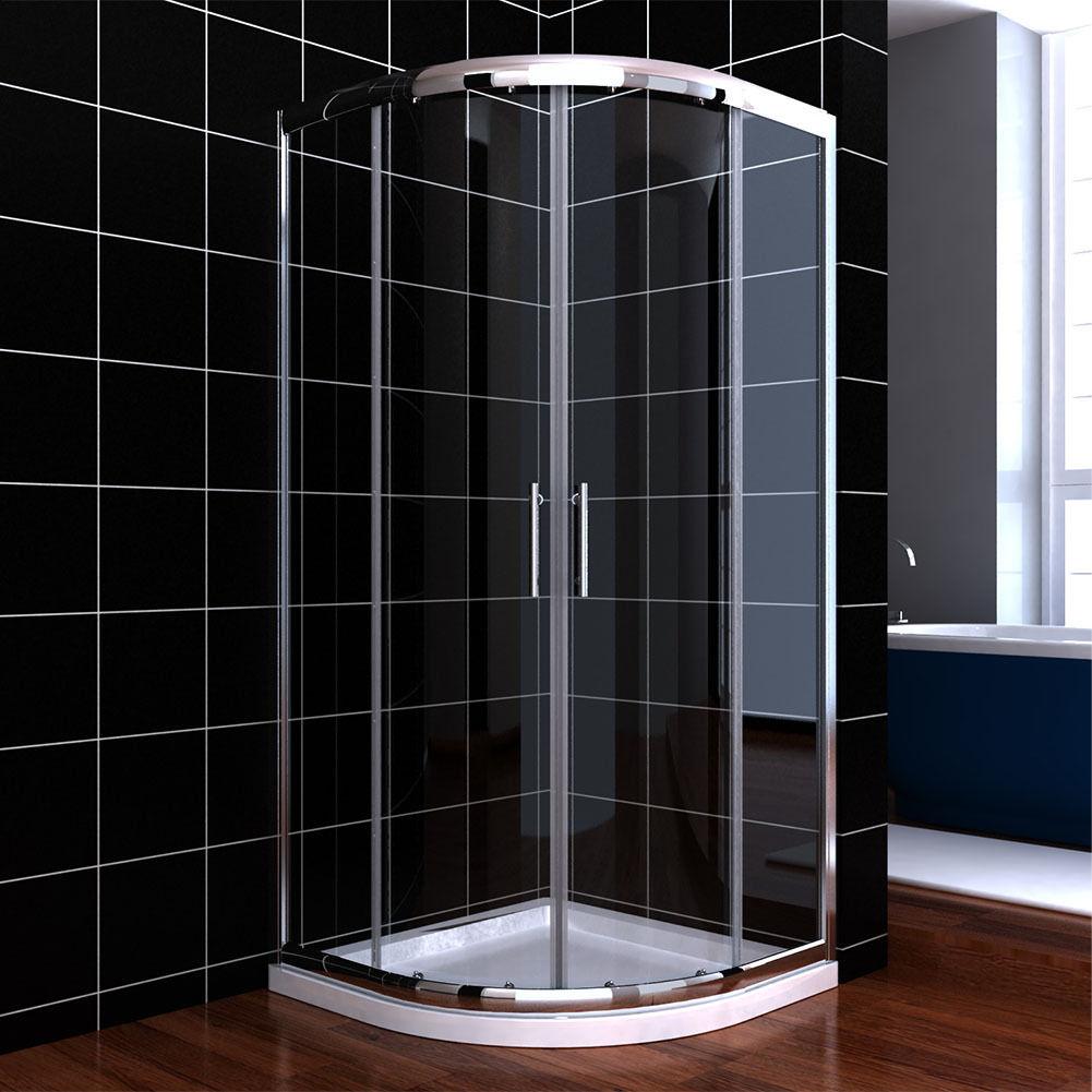 Corner Neo Round Sliding Shower Door Clear Glass Chrome NOT INCLUDED BASE EBay
