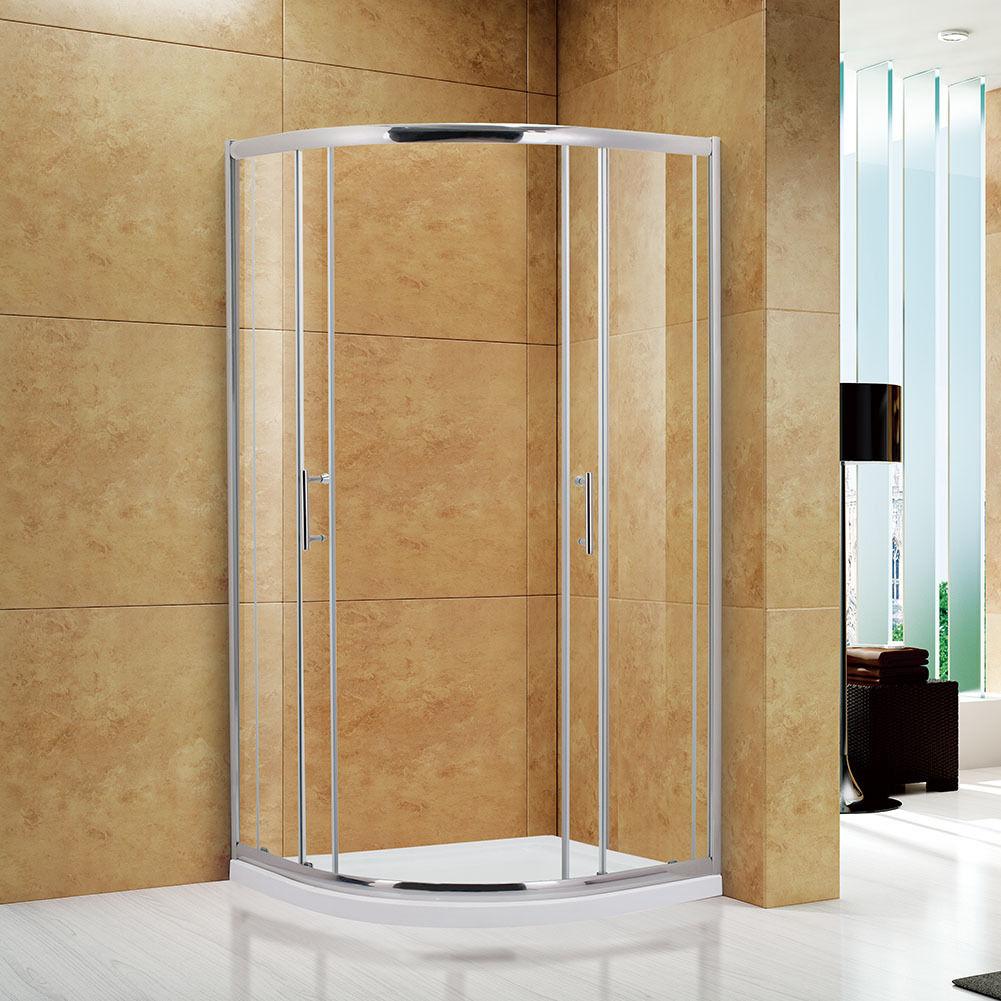 New Frameless Corner Neo Round Sliding Shower Enclosure