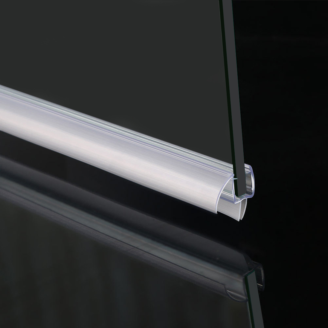 Details About Elegant 3 8 Frameless Glass Shower Door Bottom Seal Sweep Rail 28 In Long