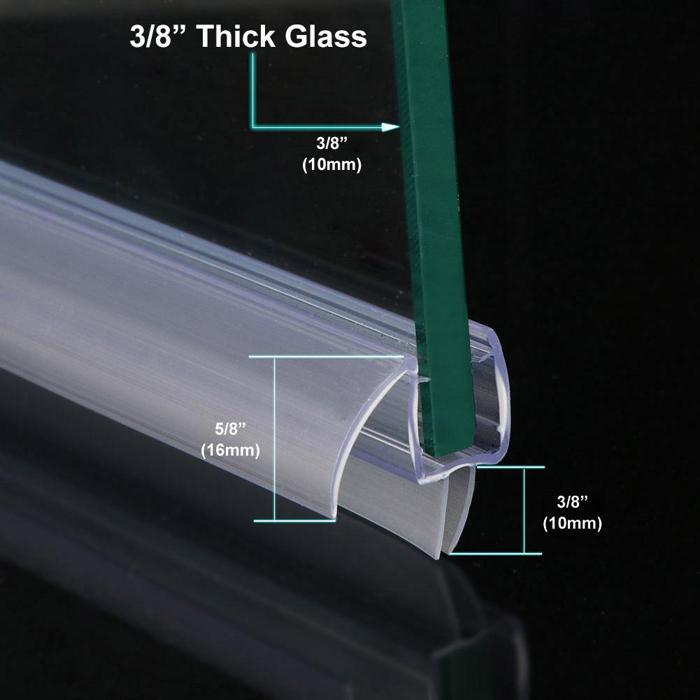 Sunny Shower 38 Frameless Glass Shower Door Bottom Seal Sweep Rail