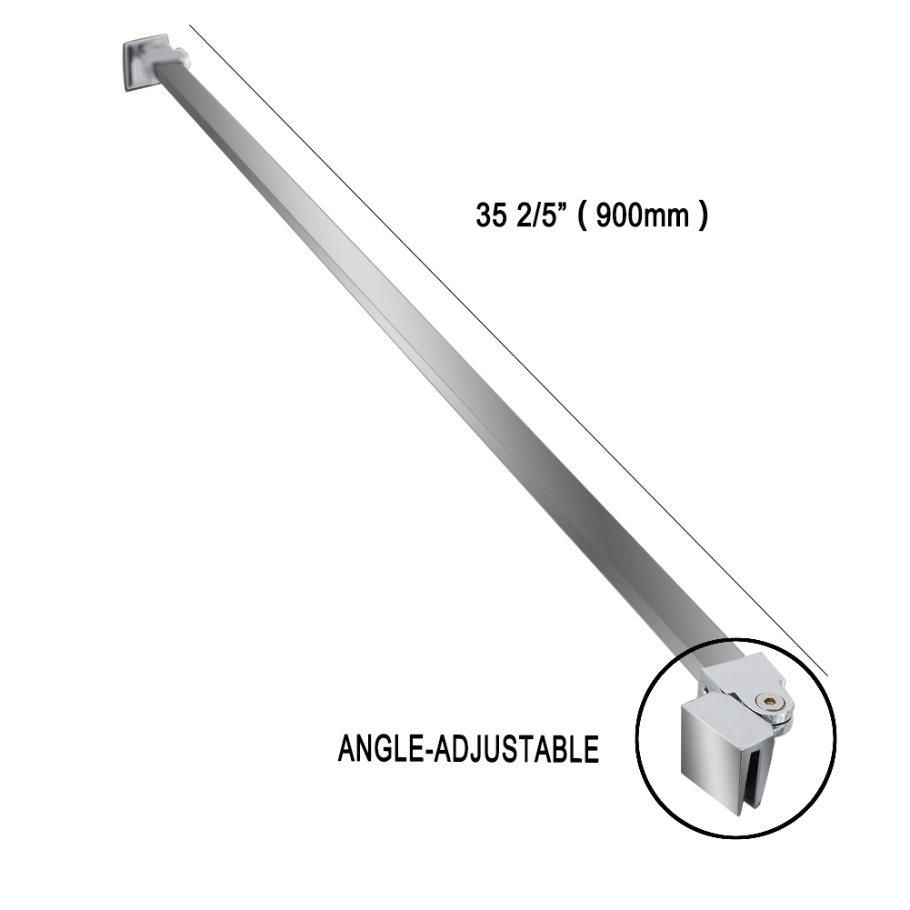 Shower Door Stainless Steel Wall To Glass Support Bar For