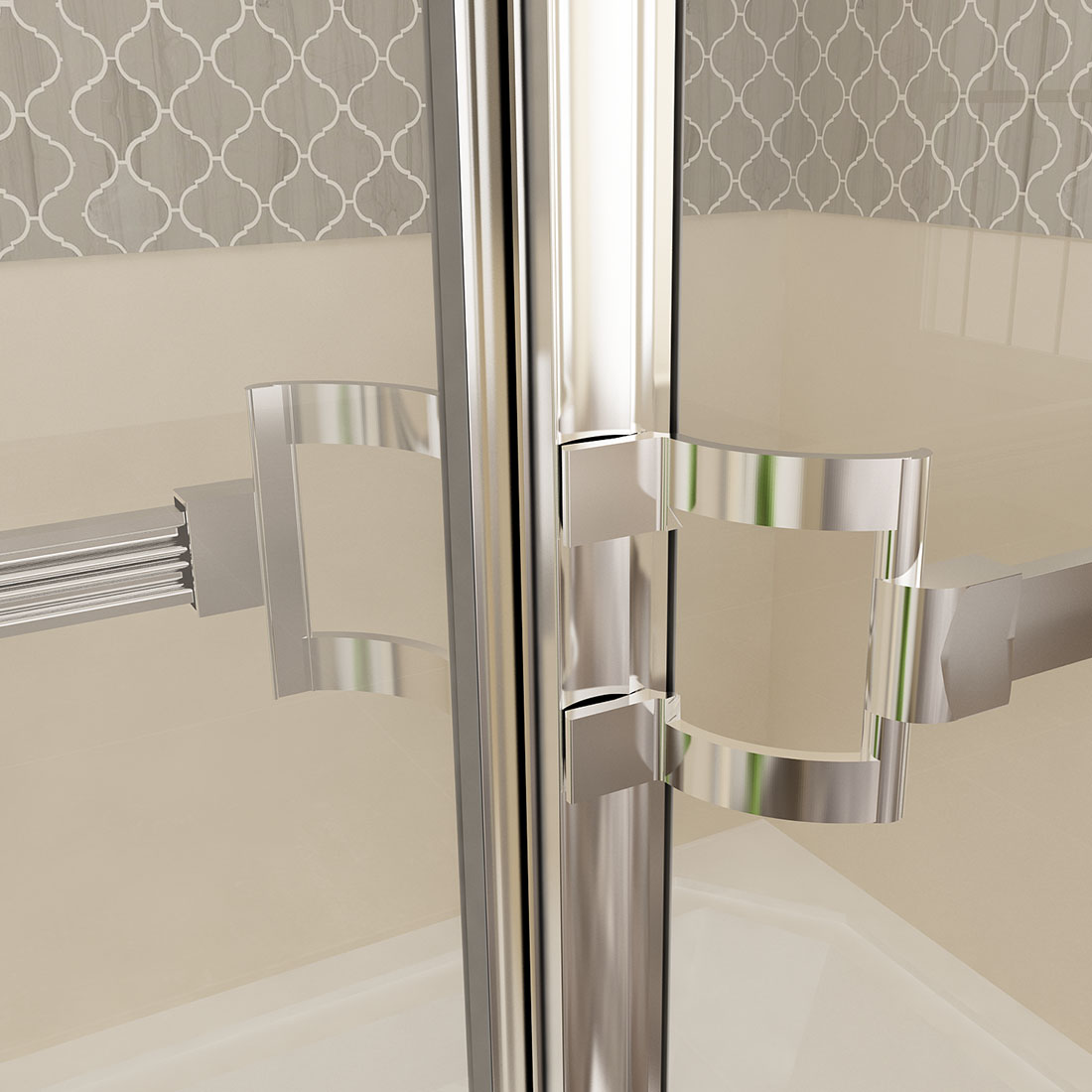 Sunny Shower 60 Quot Bypass Sliding Bathtub Glass Doors Framed