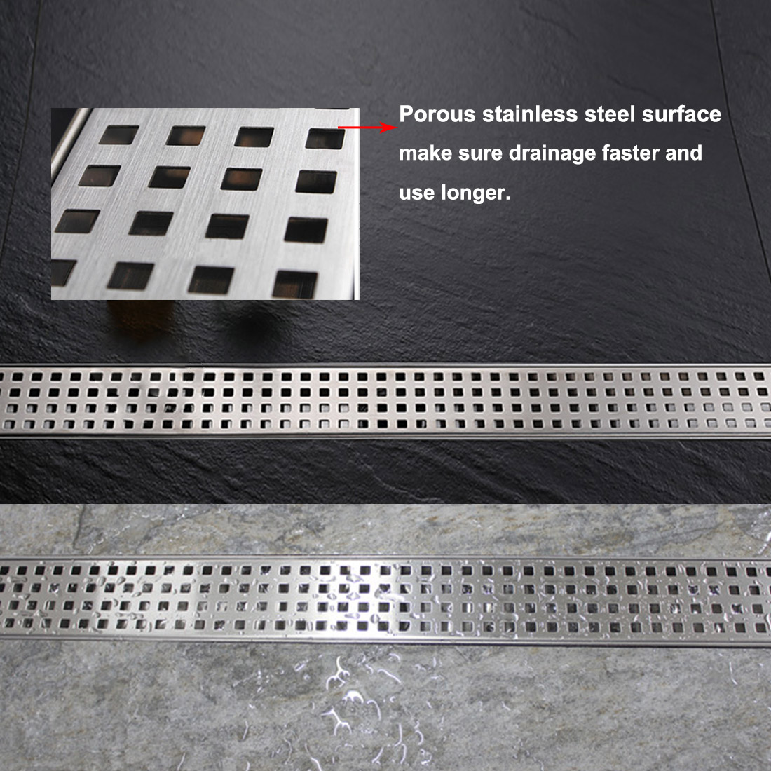 Dawn Lbe Series Modern Stainless Steel Linear Shower Drain