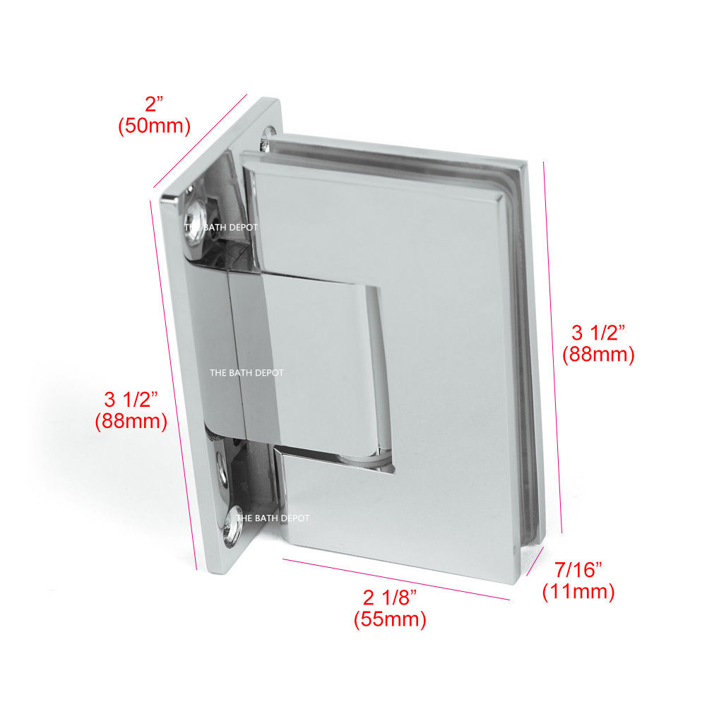 SUNNY SHOWER Frameless Pivot Shower Door Wall to Glass Hinge 90 ...