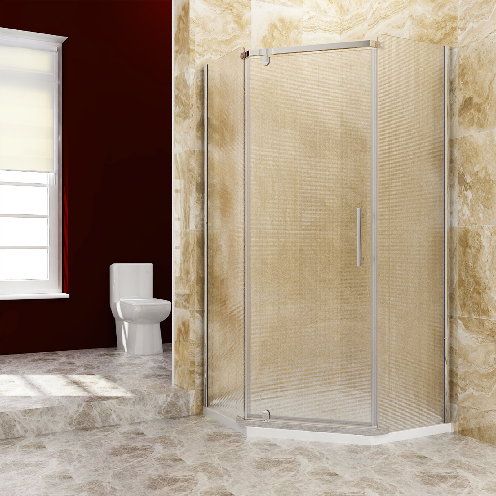 Details About Sunny Neo Angle Corner Pivot Shower Enclosure 36 3 5 In With Frosted Glass Base