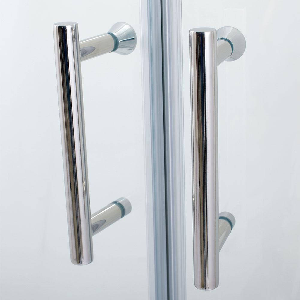 Elegant Neo Round Corner Semi Frameless Sliding Shower Door 38