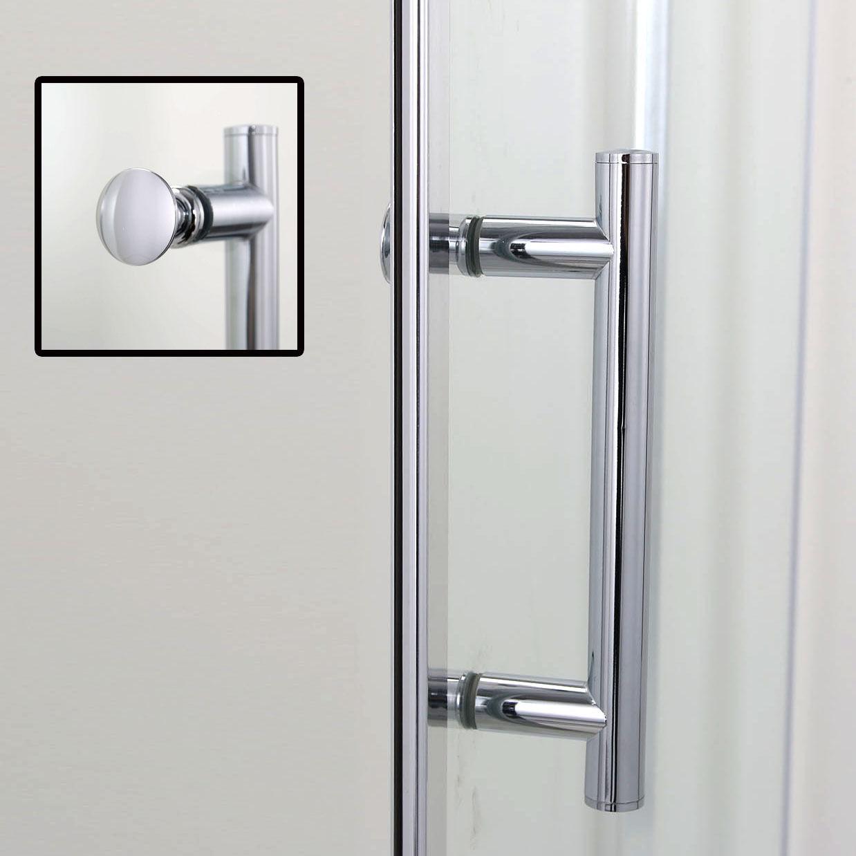 Sunny Shower One Panel Semi Frameless Pivot Shower Door 30