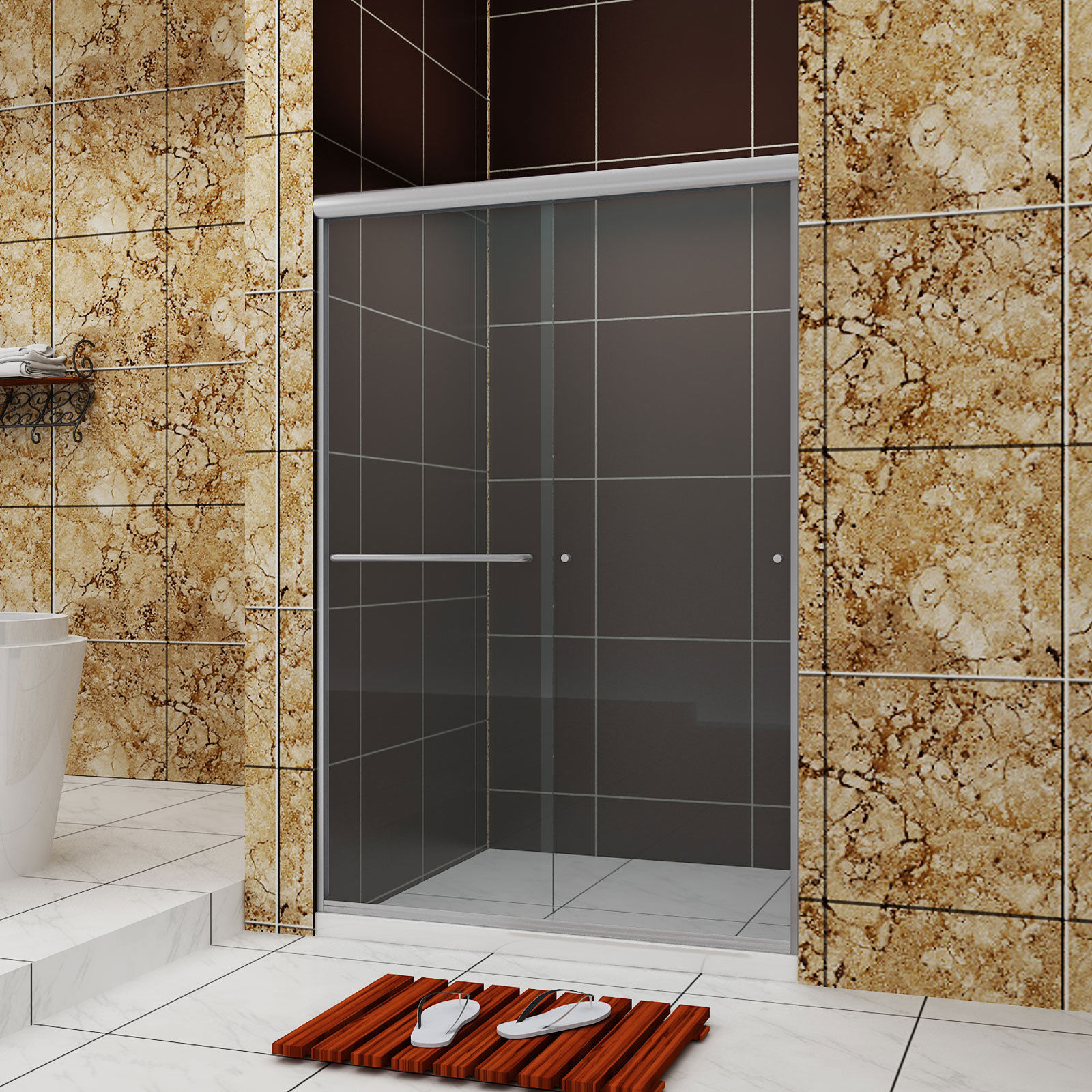 Sunny Shower Bypass Sliding Shower Doors 48 Quot W Semi