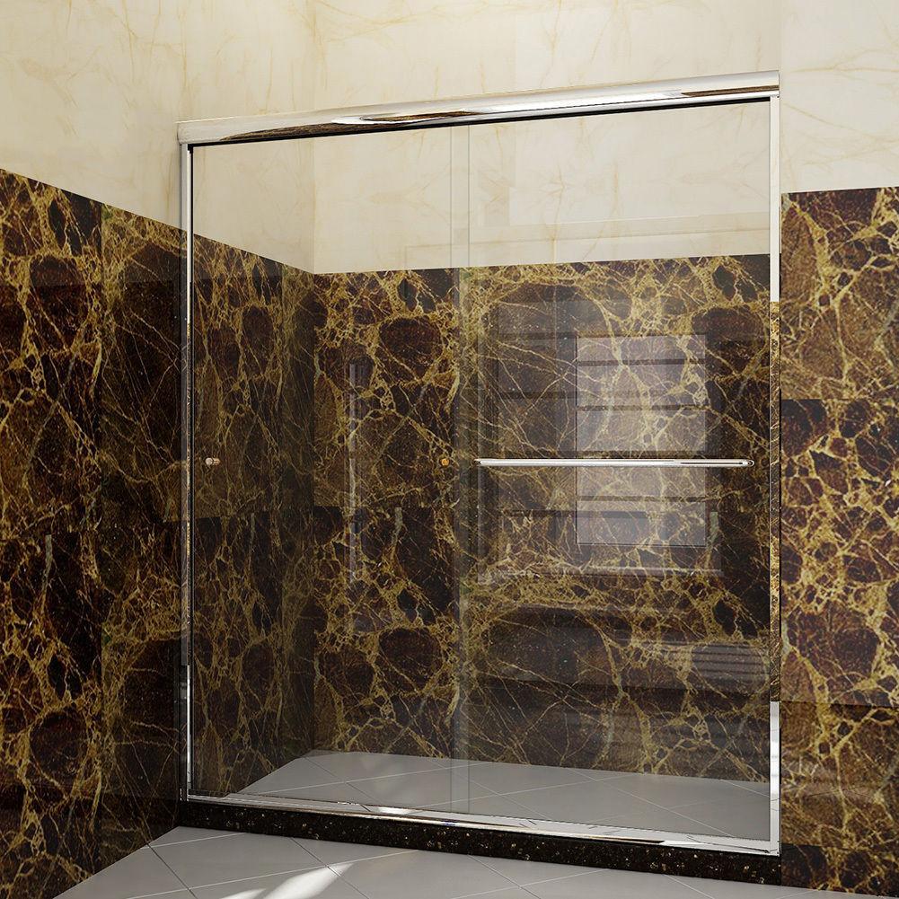 Sunny Shower 54 Quot Semi Frameless Bypass Sliding Shower