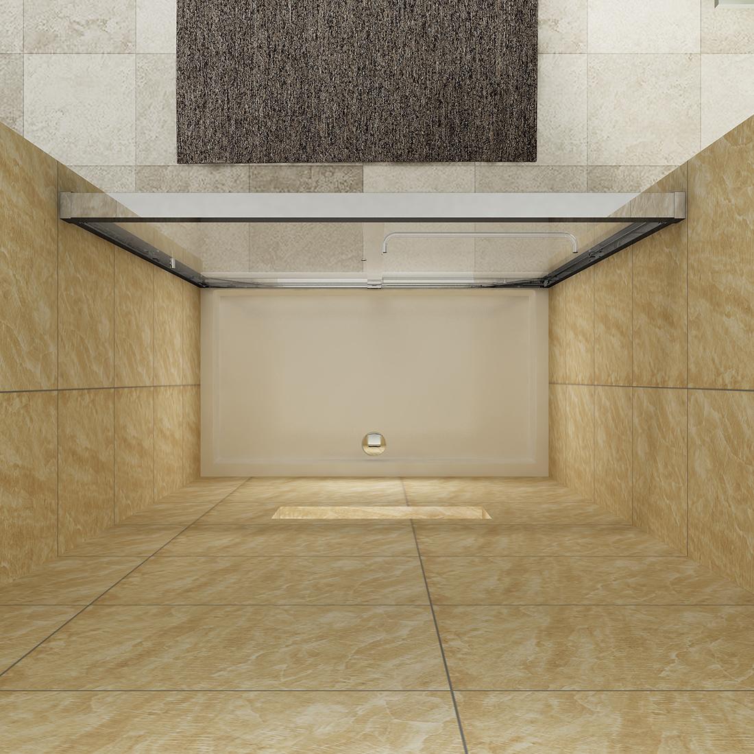 Sunny Shower Semi Frameless Bypass Sliding Shower Doors 60
