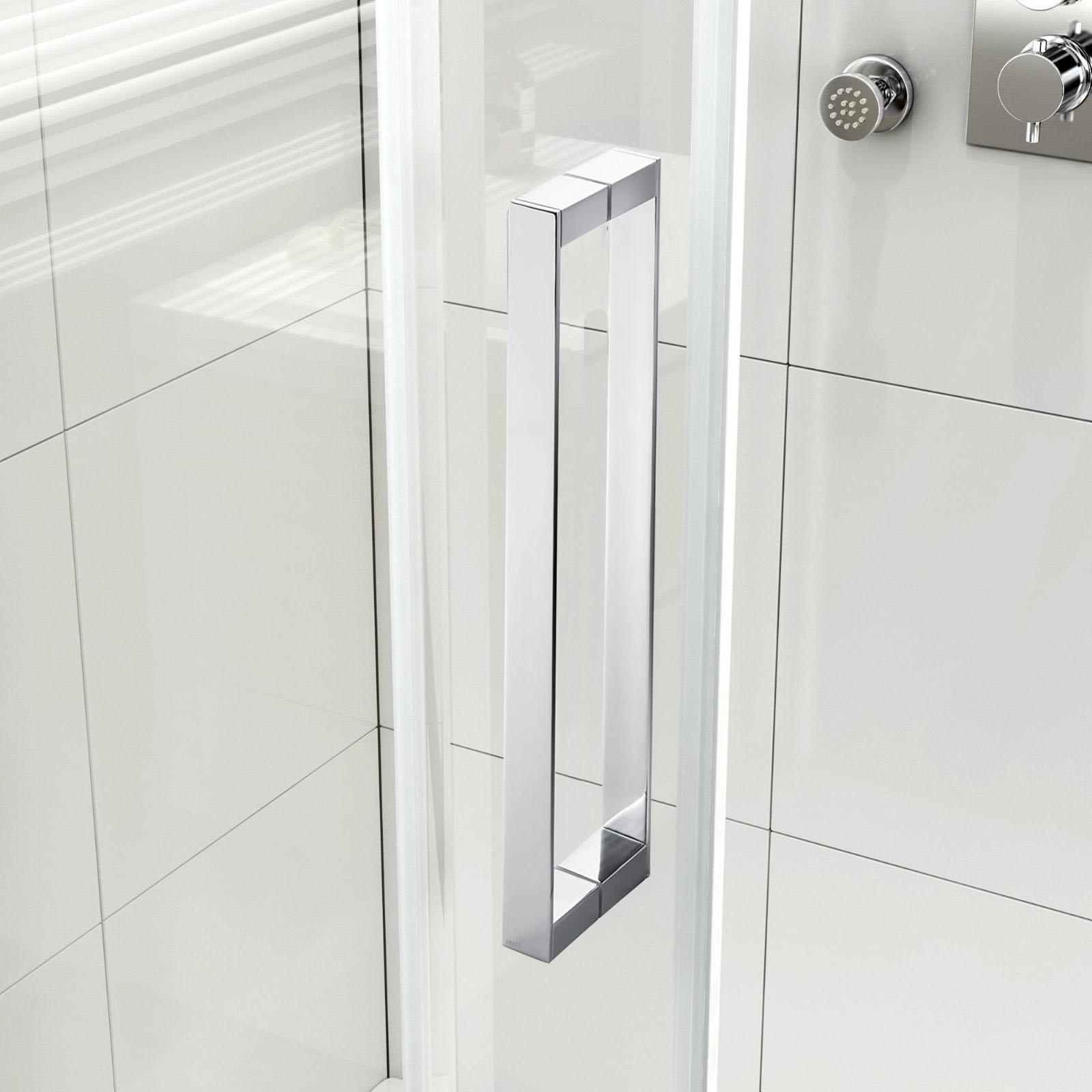 Sunny shower 60 semi frameless sliding shower doors 5 16 for Bathtub shower doors hardware