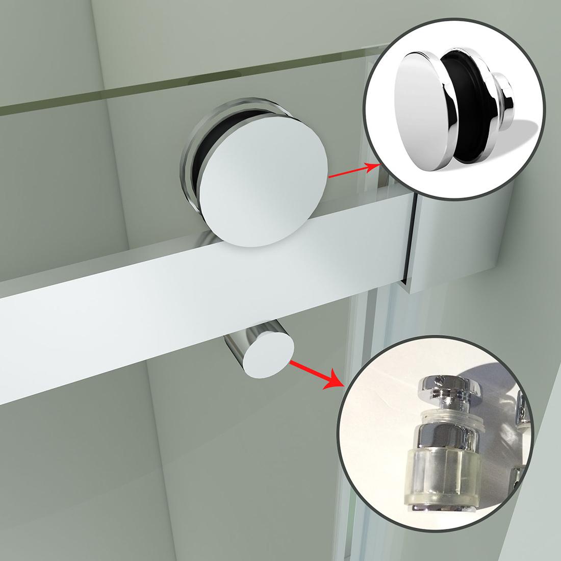 Sunny Shower Semi Frameless Sliding Shower Doors 60 Quot Heavy