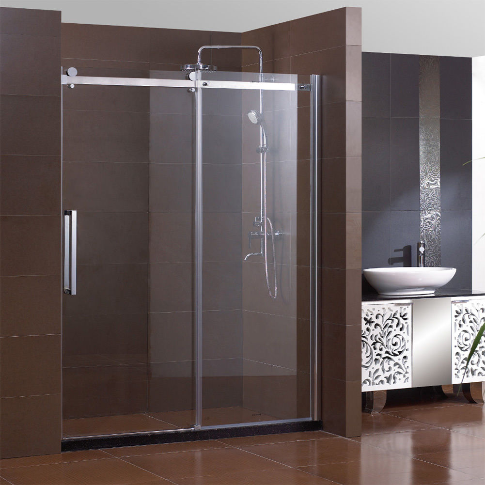 """SUNNY SHOWER 60"""" Semi-Frameless Sliding Shower Doors 5/16"""