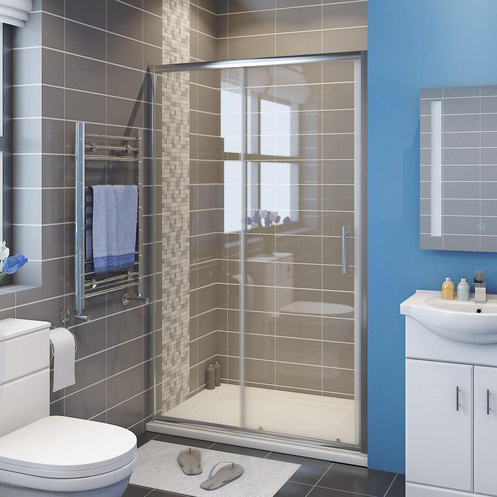 Sunny Shower Semi Frameless Sliding Shower Doors 60