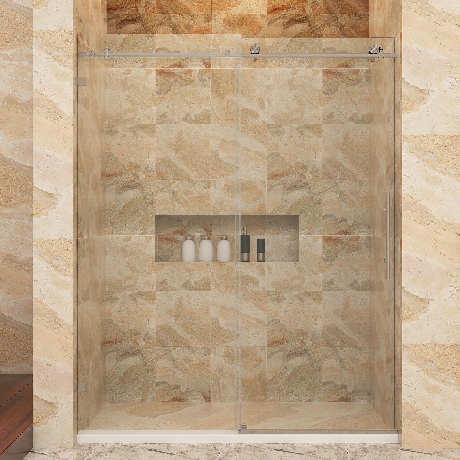 SUNNY SHOWER Fully Frameless Sliding Shower Doors 60\