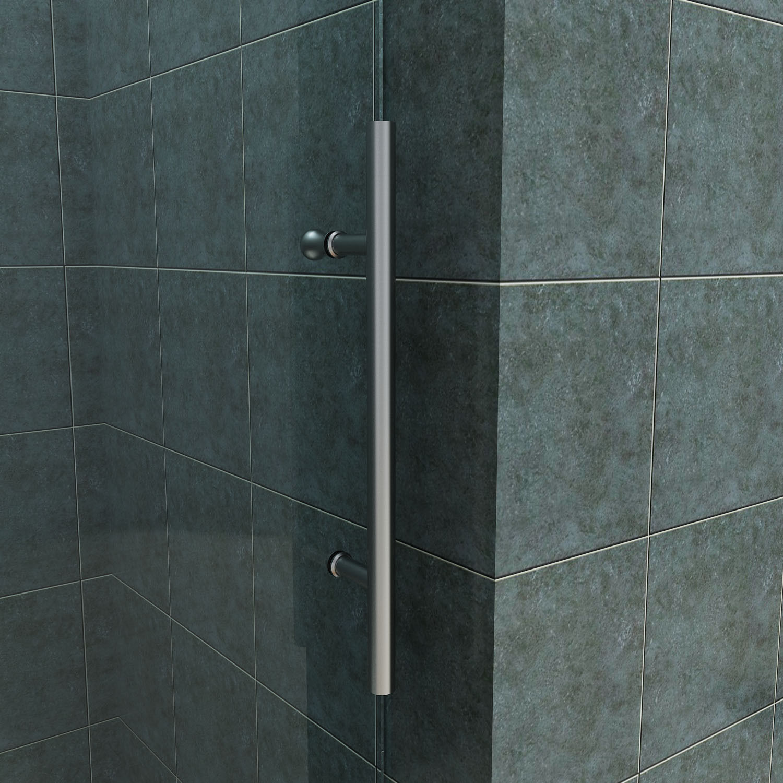 SUNNY SHOWER Fully Frameless Sliding Shower Doors 60