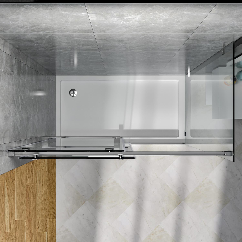 Sunny Shower Frameless Bypass Sliding Shower Door 60x72 In